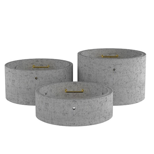 1350mm Concrete Manhole Chamber Ring - Double Step Range.