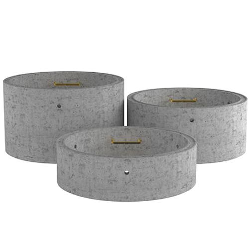 3000mm Concrete Manhole Chamber Ring - Double Step Range.