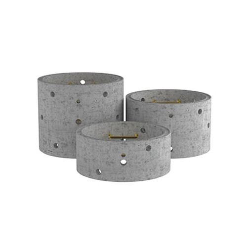 1050mm Concrete Soakaway Chamber Ring - Double Step Range.