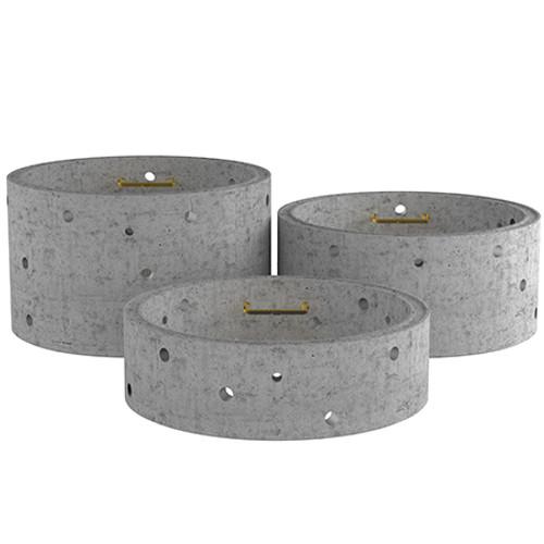 3000mm Concrete Soakaway Chamber Ring - Double Step Range.