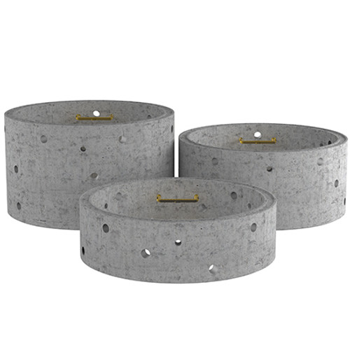 3000mm Concrete Soakaway Chamber Ring - Double Step Range.