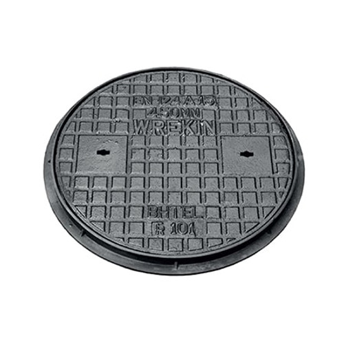 450mm dia WREKiN Cast Iron/Polypropylene PPIC Access Cover.