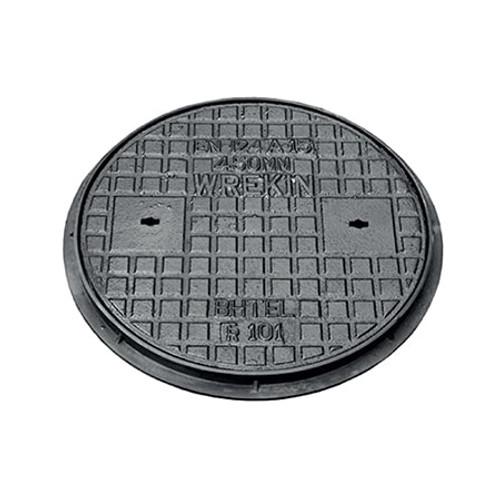 450mm dia WREKiN Cast Iron/Polypropylene PPIC Access Cover.