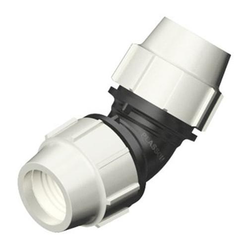 PLASSON 45dg MDPE Compression Elbow.