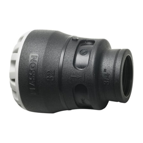 PLASSON Pushfit MDPE Female Adaptor.