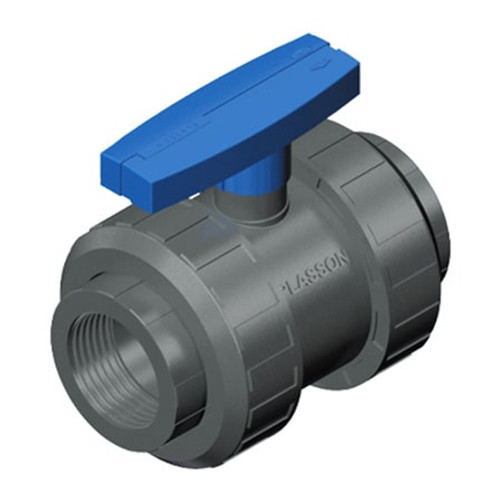 PLASSON Two Nut Threaded PVC Ball Valve.
