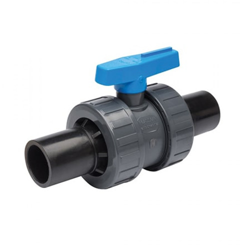 PLASSON EF Double Spigot Ball Valve PVC.
