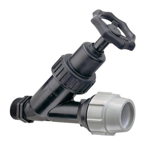 PLASSON Threaded/Compression Angle Seat Valve.