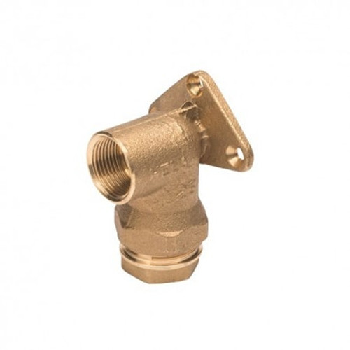 PLASSON Brass Threaded Wall Plate Elbow.