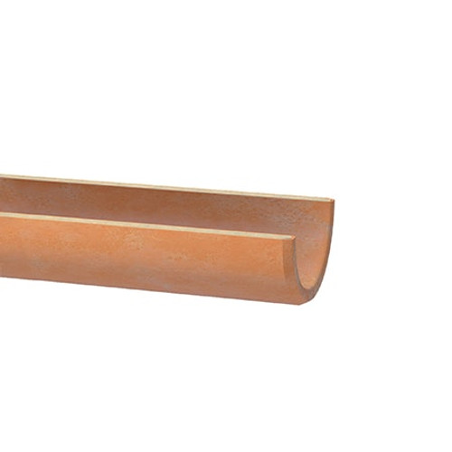 225mm Densleeve Clay Channel Butt Pipe 1m.