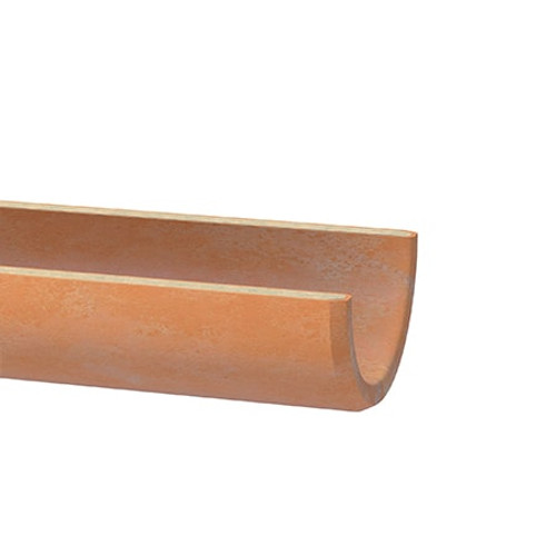 300mm Densleeve Clay Channel Butt Pipe 1m.
