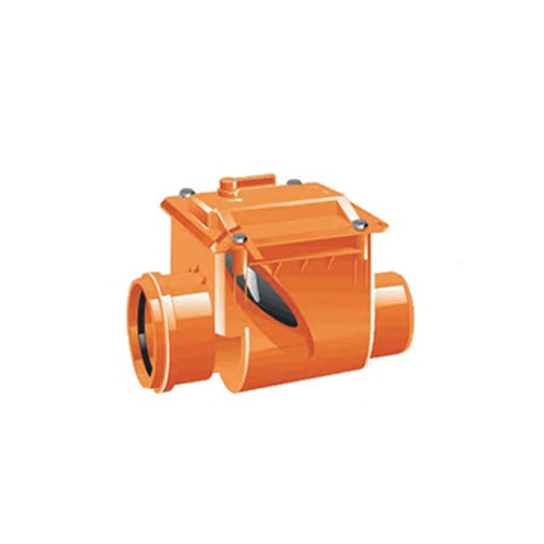 100mm (DN) Mission Single Flap Non-Return Valve.