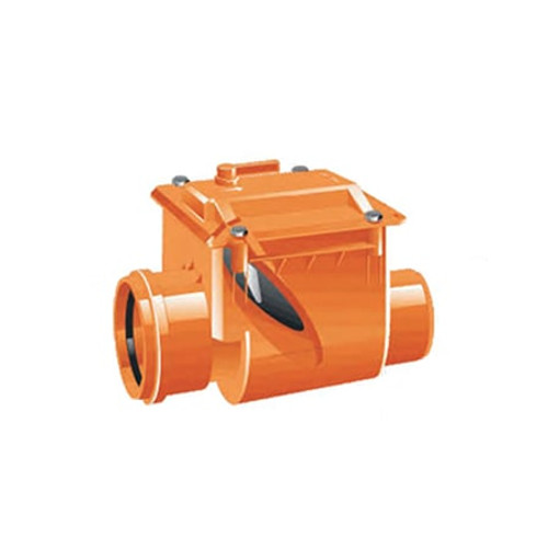 100mm (DN) Mission Single Flap Non-Return Valve w/Rodent Stop.