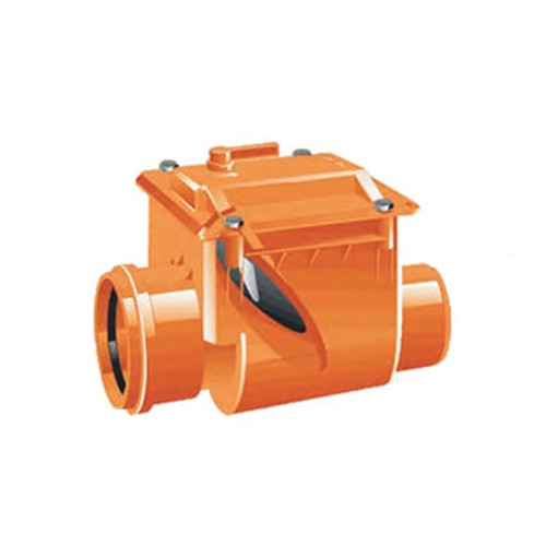 200mm (DN) Mission Single Flap Non-Return Valve.