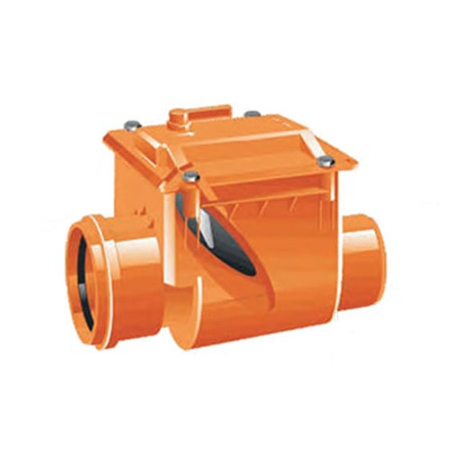 250mm (DN) Mission Single Flap Non-Return Valve.