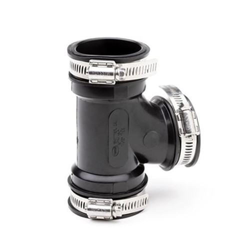 80-90mm Mission Rubber Plumbing Tee.