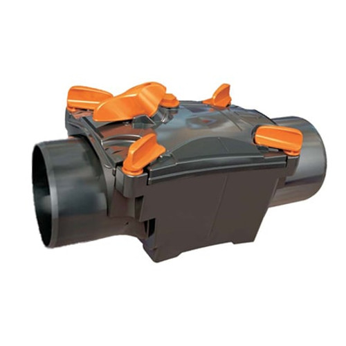 150mm (DN) Mission Single Flap Non-Return Valve - Spigot to Spigot.