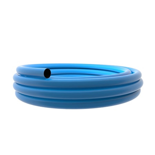 160mm Blue PE100 SDR11 Water Mains Pipe 50m Coil.