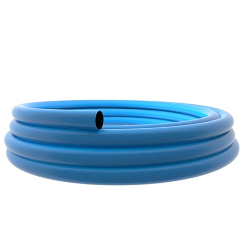 180mm Blue PE100 SDR11 Water Mains Pipe 50m Coil.