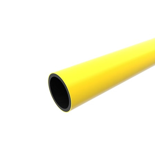 355mm Yellow PE80 SDR17.6 Gas Pipe Length.