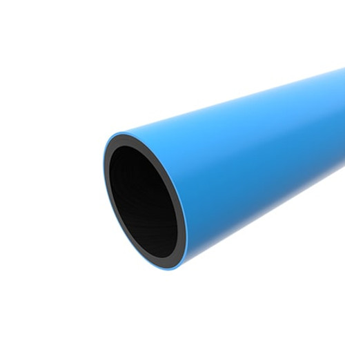 560mm Blue PE100 SDR17 Water Mains Pipe Length.
