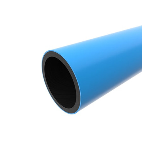 630mm Blue PE100 SDR17 Water Mains Pipe Length.