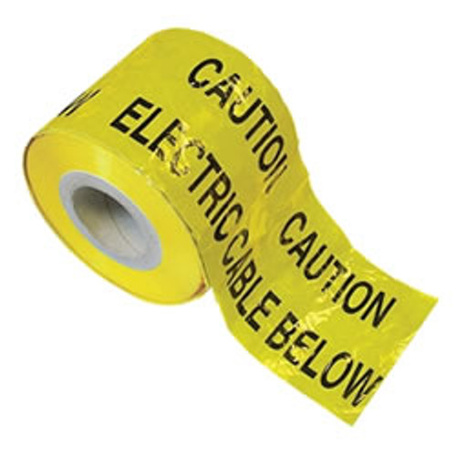 Yellow Electric Warning Marker Tape