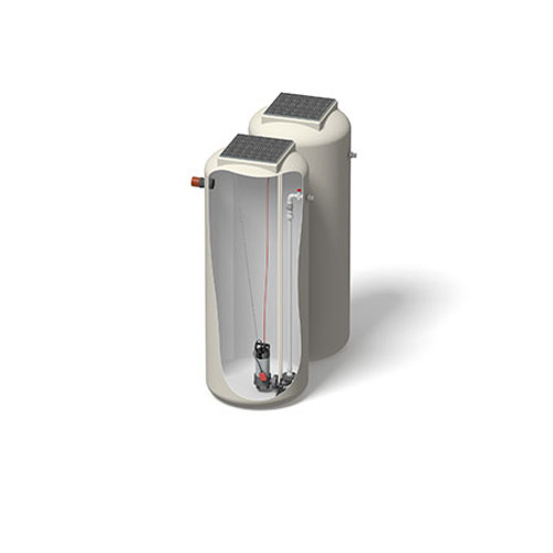 1000x2500mm 1899 Litre 6m Head Trent Pump Chamber - Foul Water Single Pump.