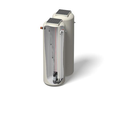 1000x3000mm 2291 Litre 6m Head Trent Pump Chamber - Foul Water Twin Pump.