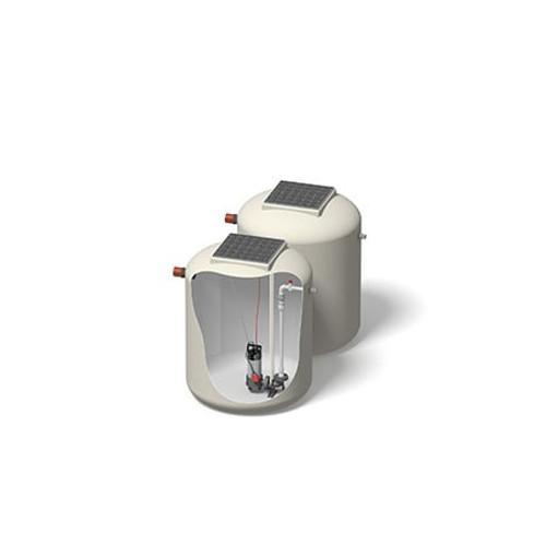 1200x1500mm 1610 Litre 6m Head Hudson Pump Chamber - Foul Water Single Pump.