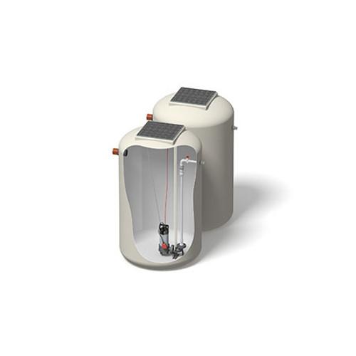 1200x2000mm 2618 Litre 6m Head Hudson Pump Chamber - Foul Water Single Pump.