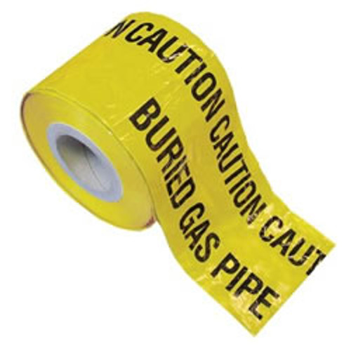Yellow Gas Warning Marker Tape