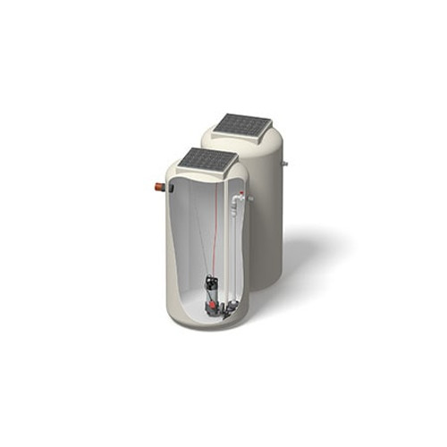 1000x2000mm 1506 Litre 10m Head Trent Pump Chamber - Foul Water Single Pump.