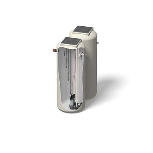 1000x2500mm 1899 Litre 10m Head Trent Pump Chamber - Foul Water Twin Pump.