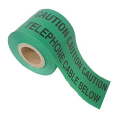 Green Fibre/Cable Warning Marker Tape