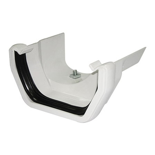 114mm Square Line to Cast Iron Gutter Adaptor - Ogee R/H.