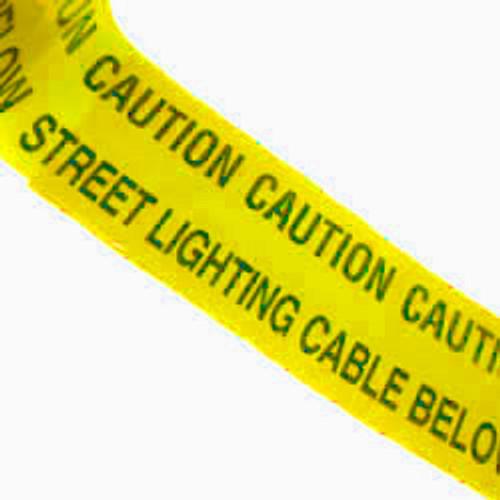Yellow Street Lighting Warning Marker Tape