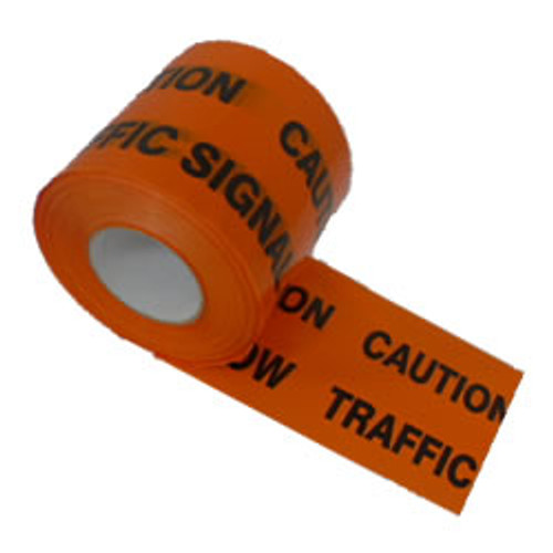 Orange Traffic Signals Warning Marker Tape
