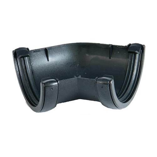 "112mm ""Cast Iron"" Style Half Round Gutter 135dg Angle ."