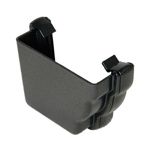 """110mm """"Cast Iron"""" Style Niagara Ogee Gutter External Stopend L/H."""