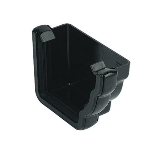 """110mm """"Cast Iron"""" Style Niagara Ogee Gutter External Stopend R/H."""