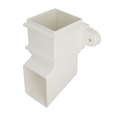 65mm Square Downpipe Shoe w/Fixing Lugs.
