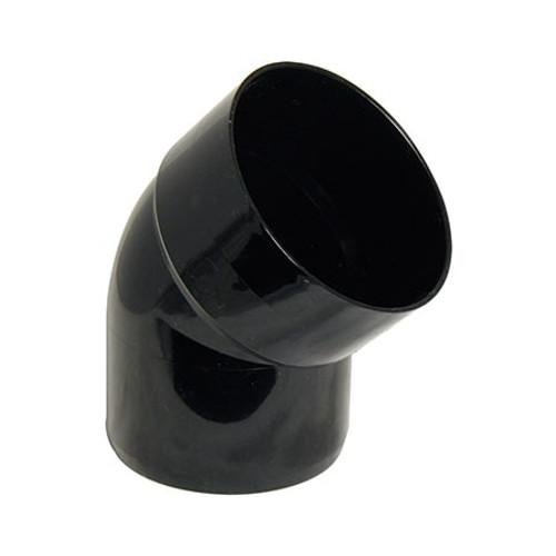 110mm Round Downpipe 135dg Bottom Offset Bend.
