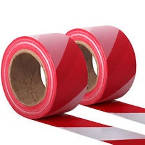 Hazard Barrier Red/White Stripe