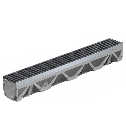 FILCOTEN tec NW100 DI Bar Channel Drain D400 - 1m.