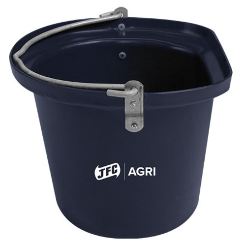 Black 14L Heavy-Duty Flat-Sided Equine Bucket