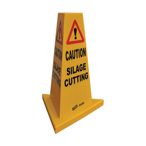 Silage Cutting Yellow Hazard Cone