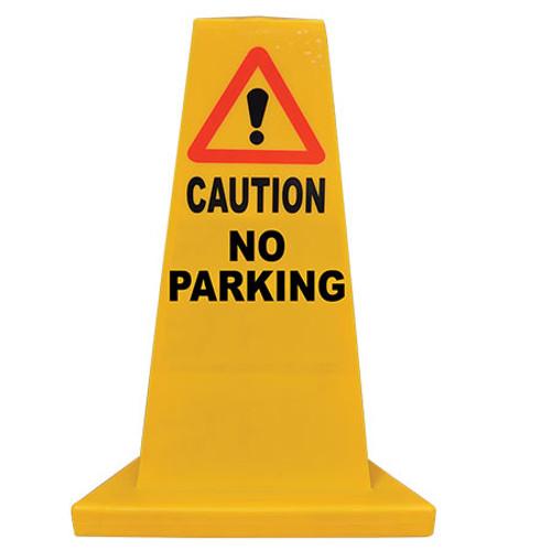 No Parking Yellow Hazard Cone
