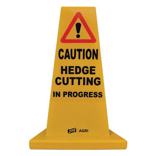 Hedge Cutting Yellow Hazard Cone