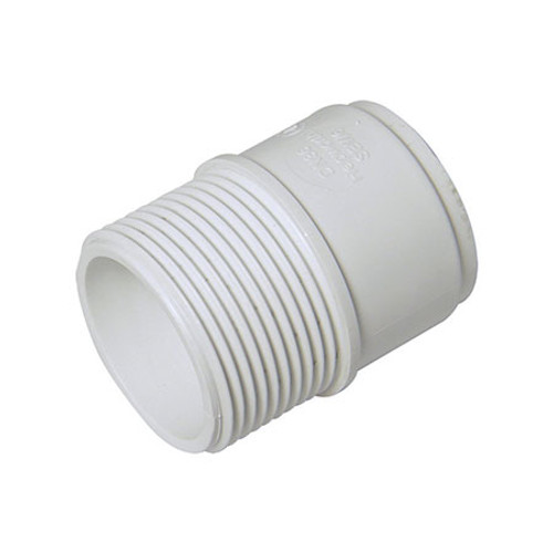 ABS Male Adaptor - White.